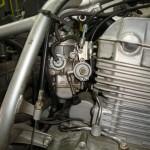 Carburador limpo e montado na Twister